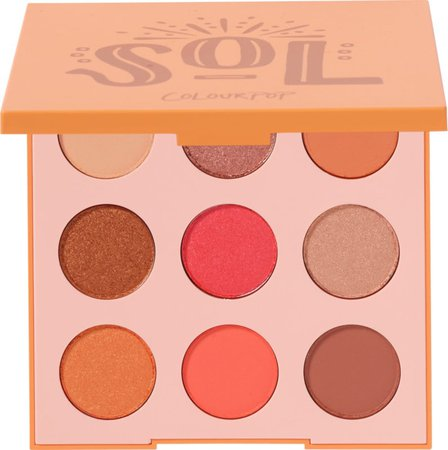 Sol Bright Hot Coral Eyeshadow Palette | ColourPop
