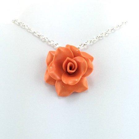 Medium Orange Rose Pendant