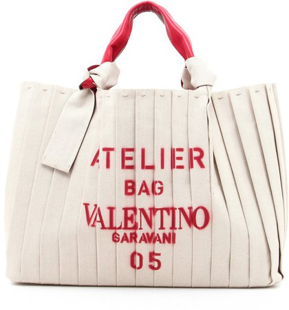 Atelier Pleated Canvas Tote