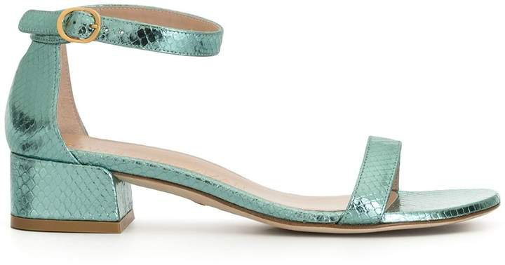 June embossed style sandals
