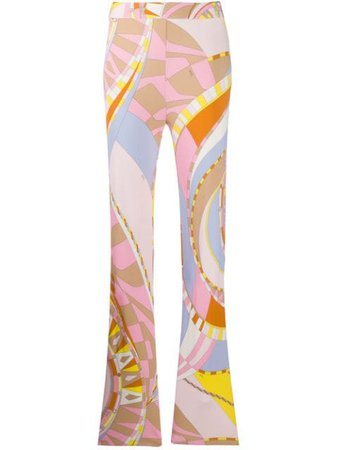 Emilio Pucci abstract-print Trousers - Farfetch