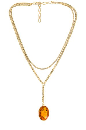 Amber Sceats Lariat Pendant Necklace in Gold | REVOLVE