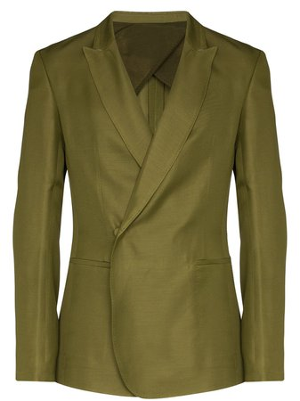 Haider Ackermann Double-Breasted Invisible Button Blazer Ss20