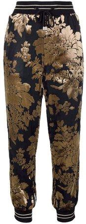 floral embellished jogging trousers