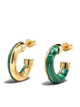 By Pariah 14kt yellow gold hoop earrings - FARFETCH