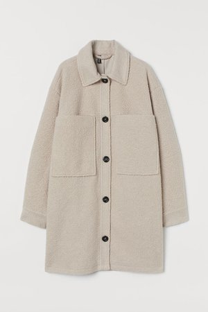 Oversized Shirt Jacket - Light beige - Ladies | H&M CA