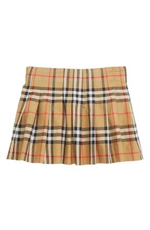 Burberry Pearl Pleated Vintage Check Skirt (Toddler Girls, Little Girls & Big Girls) (Regular Retail Price: $170) | Nordstrom