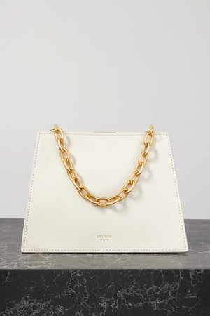 Hazel Mini Leather Tote - White