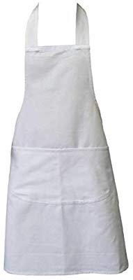 Amazon.com: Clay:Roberts Chefs Apron, White, Kitchen Apron for Men and Women, Double Pockets: Home & Kitchen
