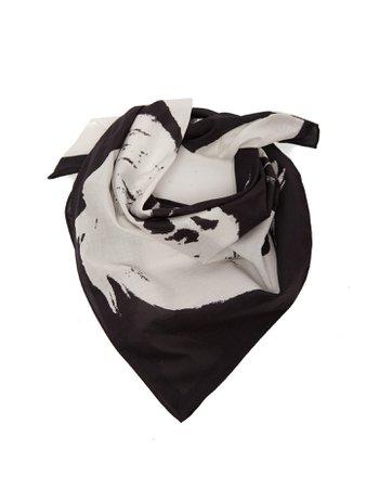 Stephen Sprouse-print cotton bandana scarf | CALVIN KLEIN 205W39NYC | MATCHESFASHION.COM