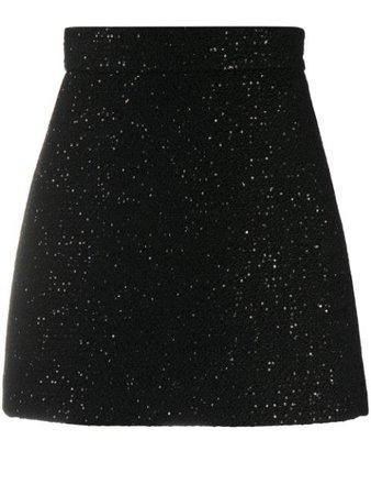 Miu Miu Sequinned high-waisted Mini Skirt - Farfetch