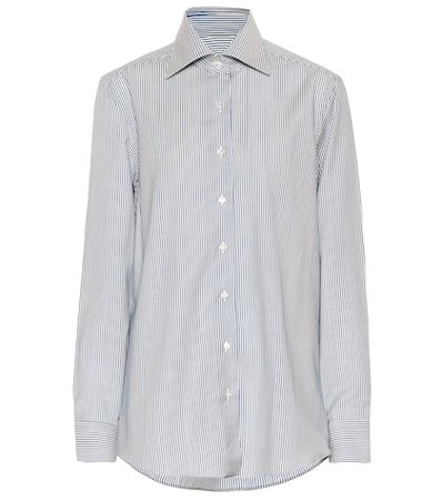 The Elvira striped wool shirt