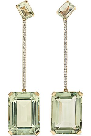 Mateo | 14-karat gold, amethyst and diamond earrings | NET-A-PORTER.COM