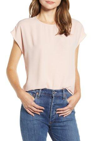 Halogen® Cap Sleeve Blouse (Regular & Petite) | Nordstrom