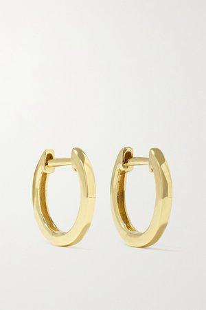 Gold Huggies 18-karat gold hoop earrings   Anita Ko   NET-A-PORTER