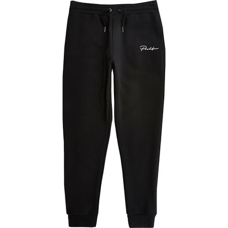 Black Prolific slim fit joggers | River Island
