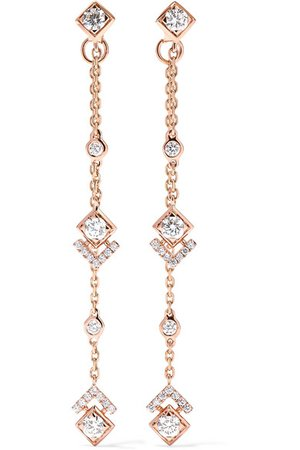 Messika | + Gigi Hadid My Soul 18-karat rose gold diamond earrings | NET-A-PORTER.COM