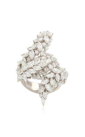 Yeprem 18K White Gold Y-Not Ring Size: 7.75