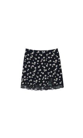 Floral mini skirt - Women's Just in   Stradivarius United States