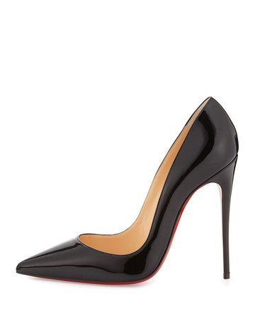 Christian Louboutin So Kate Patent Pointed-Toe Red Sole Pump | Neiman Marcus