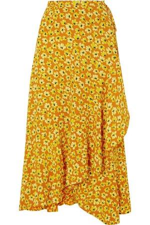 Faithfull The Brand | Jasper floral-print crepe wrap skirt | NET-A-PORTER.COM