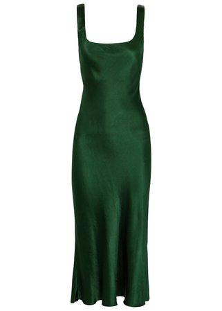 BEC & BRIDGE - Martini forest green satin dress
