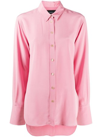 Shop pink Joseph long-sleeve silk shirt with Express Delivery - Farfetch