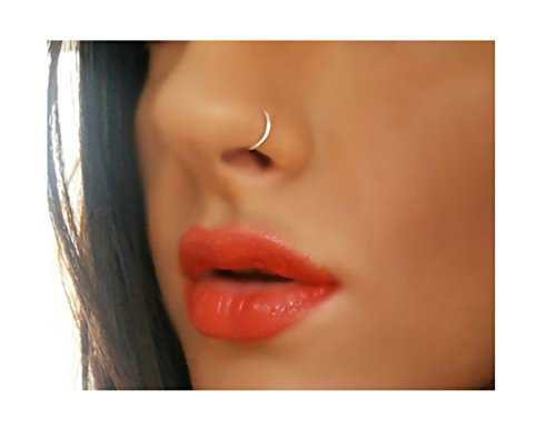 Extra Thin Small 0.5mm Nose Ring Diameter 6mm,8mm (8mm, Gold): Amazon.co.uk: Beauty