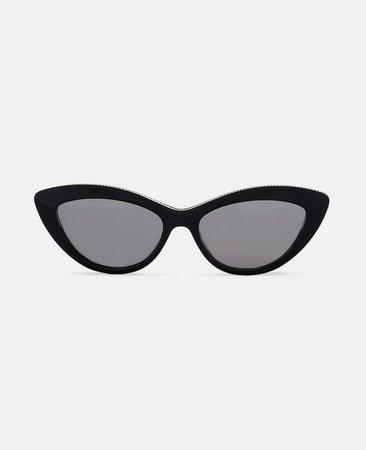 Black Cat Eye Sunglasses - Stella Mccartney