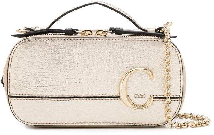 mini C vanity cross-body bag