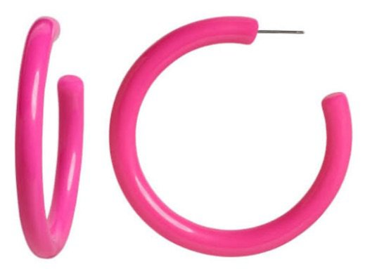 Hot pink hoop earrings Banana Republic
