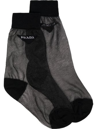 Prada Sheer Logo Socks - Farfetch
