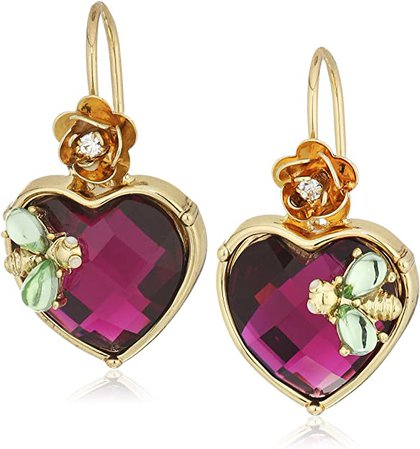 Betsey Johnson Stone Heart Drop Earrings