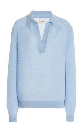Jo Cashmere-Blend Sweater By Khaite   Moda Operandi