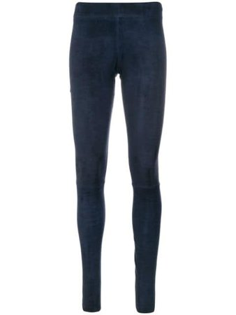 Shop blue Sylvie Schimmel Funstretch leggings with Express Delivery - Farfetch