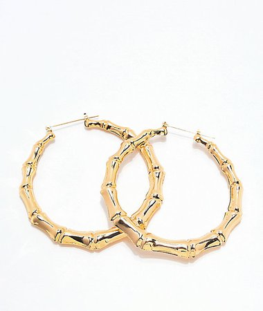 gold hoop earrings - Google Search