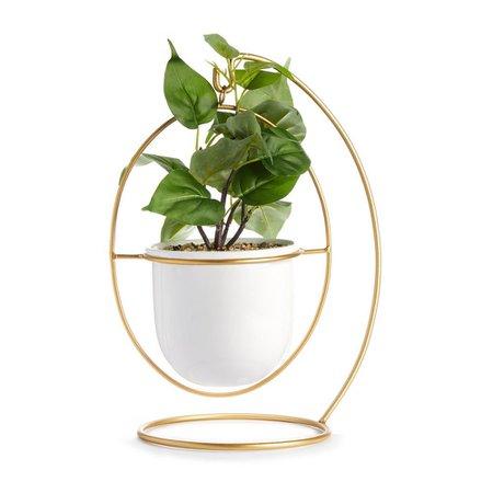 Vaso planta artificial pendurado branco e dourado   Acessórios   All Homeware   Artigos para a casa   Categorias   Primark Portugal