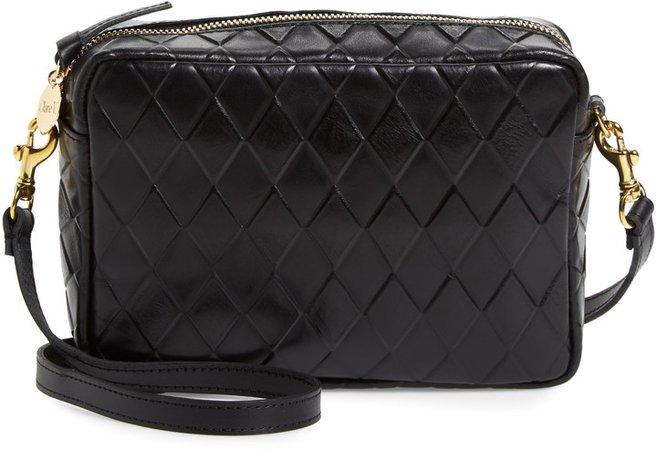 Midi Sac Diamond Quilted Leather Crossbody Bag