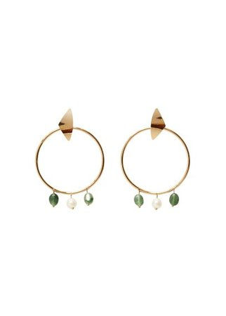 Violeta BY MANGO Stone hoop earrings