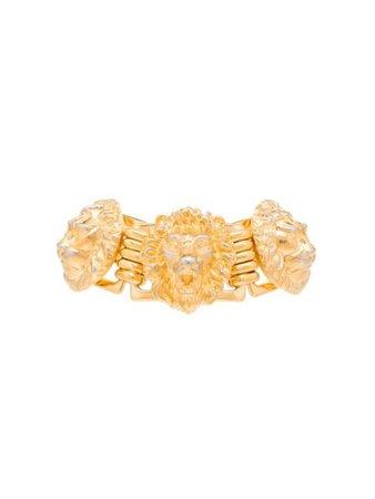 Gucci Lion Head Bracelet 623216I4600 Gold   Farfetch
