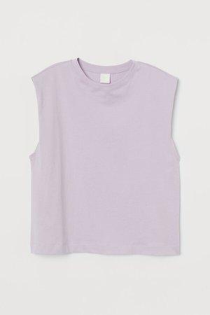 Sleeveless T-shirt - Purple