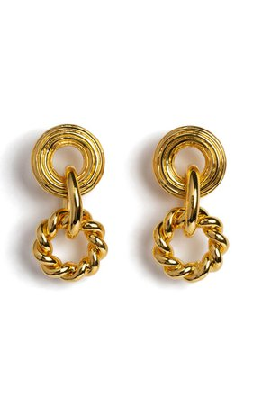 Gold-Plated Gold Rush Earrings By Lizzie Fortunato   Moda Operandi