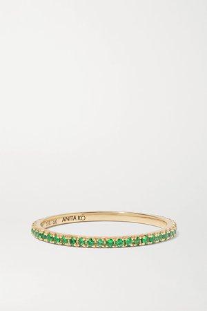 Gold 18-karat gold emerald ring | Anita Ko | NET-A-PORTER