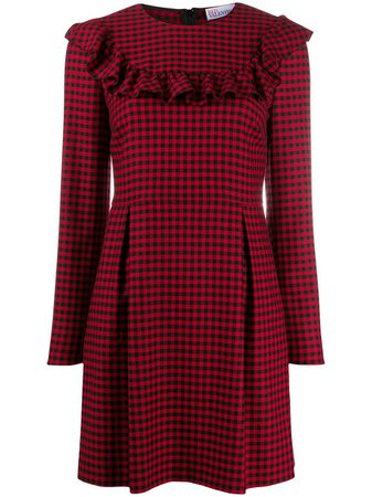 RedValentino ruffle-trim Gingham Dress - Farfetch