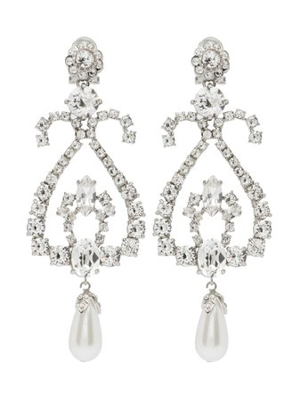 Miu Miu Crystal Earrings Aw20 | Farfetch.Com