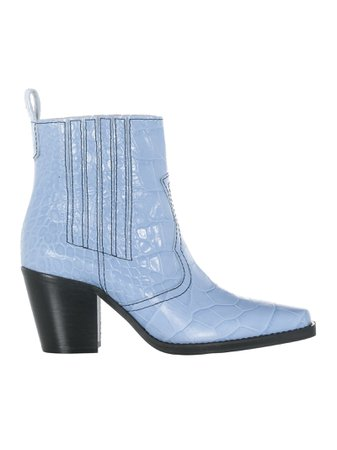 Ganni Callie Western Ankle Boots
