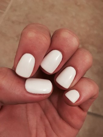 (43) Pinterest - white gel nails | Nail art