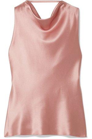 Cushnie   Draped silk-satin top   NET-A-PORTER.COM