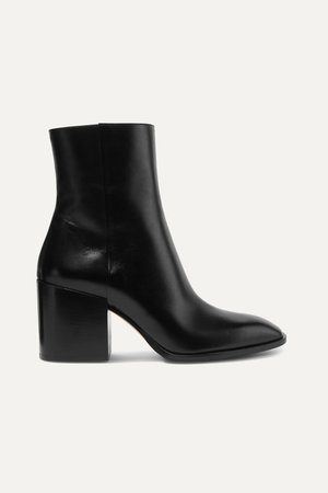 Black Leandra leather ankle boots | aeyde | NET-A-PORTER
