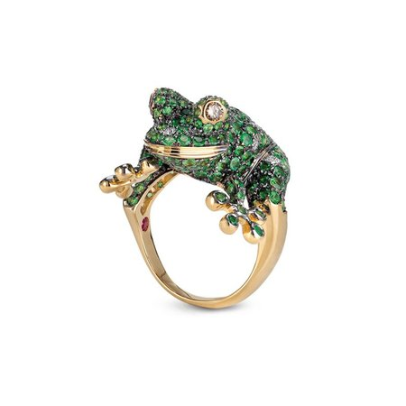 RING   GREEN GARNET   ANIMALIER - Roberto Coin